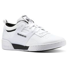 Reebok Males Workout Advance L In White Black Size 85