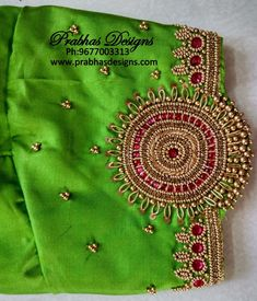 Stone Work Blouse, Hand Work Blouse Design, Pattu Saree Blouse Designs, Simple Blouse Designs, Stylish Blouse Design, Blouse Designs Silk, Designer Blouse Patterns, Bridal Blouse Designs, Diy Embroidery Designs