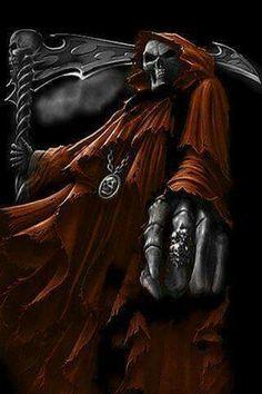 Death Reaper, Grim Reaper Art, Grim Reaper Tattoo, Don't Fear The Reaper, Tatto Skull, Skull Art, Arte Horror, Horror Art, Dark Fantasy Art