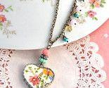 floral heart necklace...adorable