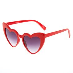 ea4f875f25 Shop Heart-Shaped Sunglasses - Red at Icing. Finish off our outfit with this