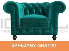 fotel Chesterfield, styl angielski, armchair, głęboko pikowany, plusz, velvet, zielony, niebieski, turkusowy, emerald  fotel_chesterfield_lady_rem_IMG_3798m.jpg (500×373)