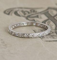 ♥ #Capri #Jewelers #Arizona ~ www.caprijewelersaz.com  ♥ Platinum Eternity Band, would look beautiful with your gorgeous solitaire....