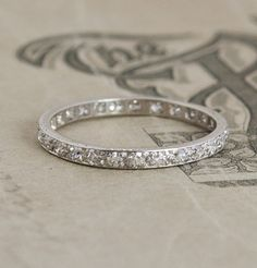 ♥ #Capri #Jewelers #Arizona ~ www.caprijewelersaz.com  ♥ Platinum Eternity Band, would look beautiful with your gorgeous solitaire....
