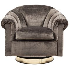 Milo Baughman Swivel Chair   From a unique collection of antique and modern lounge chairs at https://www.1stdibs.com/furniture/seating/lounge-chairs/