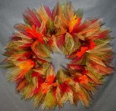 Leaves of Fall Tulle Wreath