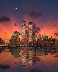 New York Skyline before our World changed!!! Rest In Peace the Souls victims of 911 - never ever forgotten