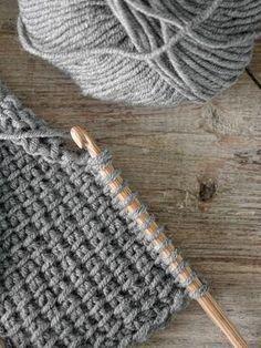 DIY Anleitung tunesisch h keln crochet wool ethno Selbermachen Grey homedecor Baby Knitting Patterns, Diy Crochet Patterns, Crochet Motifs, Tunisian Crochet, Crochet Stitches, Crochet Projects, Crochet Ideas, Craft Projects, Crochet Squares
