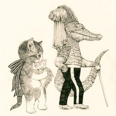HiguchiYuko Illustrations, Illustration Art, Character Drawing, Character Design, Fairytale Art, Art Wall Kids, Whimsical Art, Cat Love, Crazy Cats