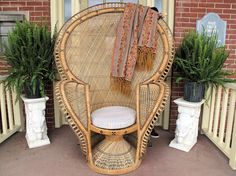 Hey, I found this really awesome Etsy listing at https://www.etsy.com/listing/187855447/vintage-wicker-and-cane-peacock-chair