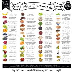 Calorie & Protein Chart