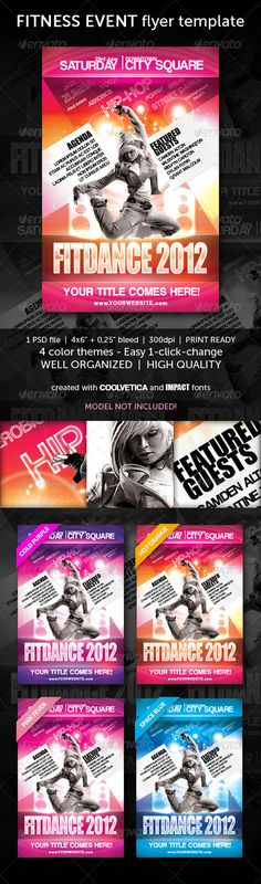 Fitness Flyer\/ Magazine Ad In 3 Colors Magazine ads, Ads and - handyman flyer template