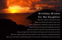 birthday wishes to my daughter | Birthday Wishes for My Daughter | My Castle Heart Publications