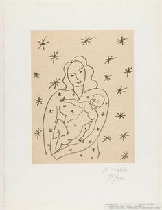 Henri Matisse. Virgin and Child on Starry Ground (Vierge et Enfant sur fond étoilé). (1950-51)