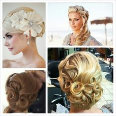 Vintage wedding hair inspiration!  More wedding hair styles can be found at: www.lovelipstickandveils.com