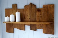 Antique Wooden Pallet Candle Shelf | Pallet Furniture