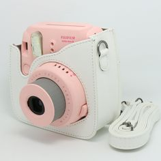 Amazon.com : CAIUL Light white PU Leather fuji mini case for Fujifilm Instax Mini 8 Case bag : Camera Cases : Electronics