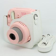 Amazon.com : CAIUL Light white PU Leather fuji mini case for Fujifilm Instax Mini 8 Case bag : Camera Cases : Electronics