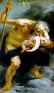 Birth of Zeus. Based on Uranus' prophecy that Cronus will be overthrown by a child of his, Cronus devoured his children, Hestia, Demeter, Hera, Hades and Poseidon, after their birth. But when Rhea was about to give birth to Zeus, she went with her mother Gaia to Crete and gave birth to him in a cave. She left him there and gave Cronus a disguised stone to devour. Zeus was raised by armored dancers, who clapped and sang when he cried, so that Cronus will not hear the screams and come to kill…