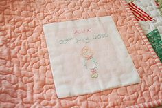 sweet quilt label