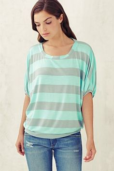loose fitting jersey stripe
