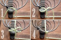 How to repair antique hand strung spring chair cushion. Clove=hitch