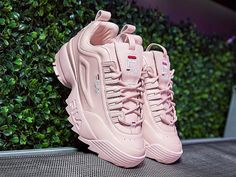 "17.2k Likes, 464 Comments - FILA (@filausa) on Instagram: ""The @FILAUSA XO @BarneysNY collaboration includes FILA's Disruptor II Lux and Drifter slides,…"""