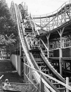 """""""Coaster Dips"""" roller coaster at Glen Echo Park."""
