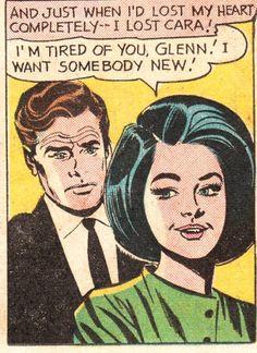 "Comic Girls Say.. "" I m Tired of you Glenn , I want some body new "". #comic #vintage"