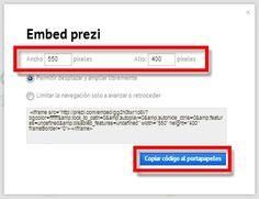 Tutorial para insertar presentaciones de diapositivas Prezi en una página web.