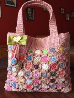 Crochet tote bag Crochet Tunic, Freeform Crochet, Crochet Granny, Crochet Shell Stitch, Crochet Tote, Manta Crochet, Crochet Handbags, Crochet Purses, Tote Handbags