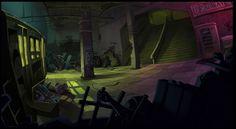 ArtStation - Yesterday Pendulo Studios Environments, David Puerta Altes
