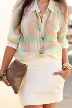 Pretty Spring Outfit - but with a tank top underneath ...