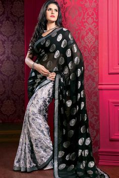 Zareen Khan in indian Saree, Indian Fashion