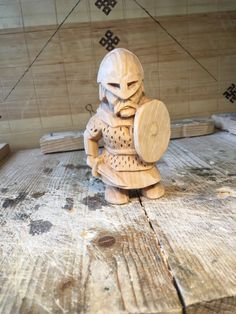 Glad to introduce another figure of the fearsome Viking. This is Eric - the bodyguard of the Jarl. The sword is a bit short and the head too big)). But I think the figure is decent. Material - basswood. Also plan to use danish oil.