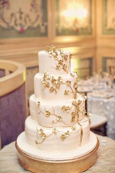 Wedding Cake-- photographed by Clayton Austin. gold glitter