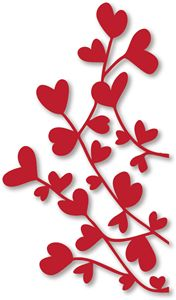 Red ♡ tree branch ____Silhouette Online Store: heart vine (Growing ♥Hearts...L♡VE grows)