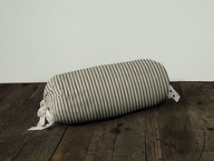 Lawrence Ticking Stripe Neck Roll Pillow Cover