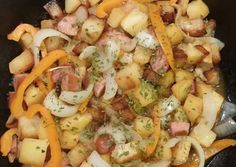 Smothered Potatoes with Bell Pepper Onions Polish Sausage Recipe -  How are you today? How about making Smothered Potatoes with Bell Pepper Onions Polish Sausage?