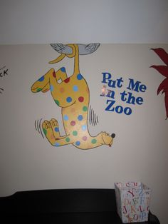 close up of put me in the zoo #drseuss
