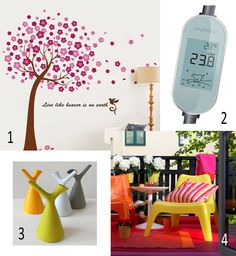 Isabel's Picks for Spring 2015 - Wall sticker Large Pink Cherry Blossom Flower Tree, Self-adhesive vinyl, walldecals.ie, Amphiro Smart Shower Meter, water conservation, Spring watering can, Robert Bronwasser, Goods shop, OUTDOOR CHAIR IKEA, Thomas Sandell, IKEA PS VÅGÖ Flower Tree, Cherry Blossom Flowers, Ikea Ps, Water Conservation, Flowering Trees, Adhesive Vinyl, Spring 2015, Wall Sticker, Outdoor Chairs