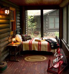 Outdoor Sleeping Porch • Courtesy of Michelle Fries, BeDe Design; Lands End Development