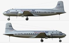 TAE Greek National Airlines Douglas C-54E-15-DO Skymaster (DC-4) [SX-DAC] Olympic Air, Douglas Dc 4, National Airlines, Diecast Models, Olympics, Aviation, Aircraft, Engineering, Branding