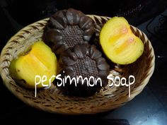 Hot Process Persimmon Soap, naturally colored