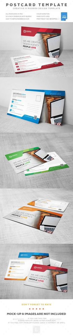 Postcards - Cards & Invites Print Templates