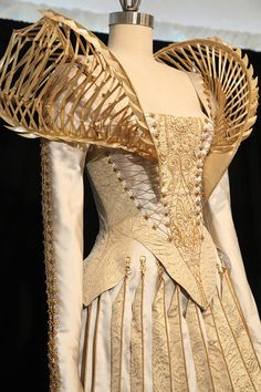 Ravenna's (Charlize Theron) wedding dress from Snow White and the Huntsman. The shoulder structures are meant to echo ribcages.