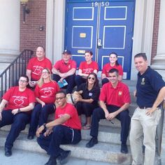 This fine crew from #Cambridge Police Fire ECC Pro EMS and MEMAmade up the interactive public safety zone team at today's #cambma #PARKingDay. #cpd #cambridgema #parkingday2015 #socialpolicing #communityrelations #cfd by cambridgepolice September 18 2015 at 01:35PM