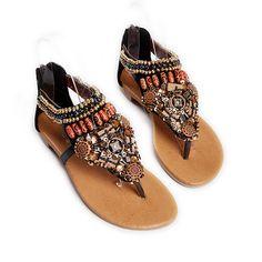 Bohemian complex colorful shoes