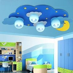 Cartoon Kids Room Design Did you ever wonder why there are so many designs that you can choose from. You will find popular kids tv shows and your favorite cartoons including f. House Ceiling Design, Ceiling Design Living Room, Bedroom False Ceiling Design, Kids Room Murals, Kids Room Paint, Kids Bedroom Designs, Kids Room Design, Interior Design Masters, Creative Kids Rooms