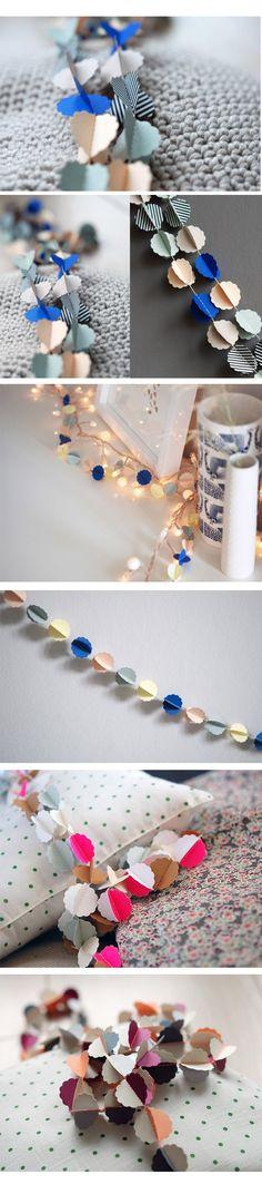 handmade paper garlands